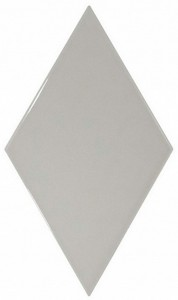 RHOMBUS WALL LIGHT GREY glazura - wymiar 15,2/26,3 cm